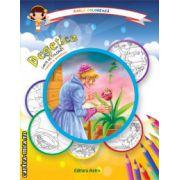 Colectia Carla coloreaza : Degetica - carte de colorat + poveste (editura : Astro , ISBN 978-606-8148-56-4 )