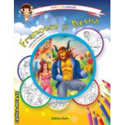 Colectia Carla coloreaza : Frumoasa si Bestia - carte de colorat + poveste (editura : Astro , ISBN 978-606-8148-65-6 )