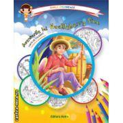 Colectia Carla coloreaza : Aventurile lui Huckleberry Finn - carte de colorat + poveste (editura : Astro , ISBN 978-606-8148-52-6 )