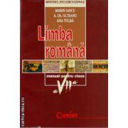 Limba romana manual pentru clasa a VII - a ( editura : Corint , autor: Marin Iancu , A.Gh. Olteanu , Ana Tulba , ISBN 978-973-135-299-2 )
