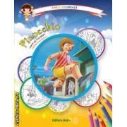 Colectia Carla coloreaza : Pinocchio - carte de colorat + poveste (editura : Astro , ISBN  978-606-8148-58-8 )
