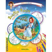 Colectia Carla coloreaza : Scufita Rosie - carte de colorat + poveste (editura : Astro , ISBN 978-606-8148-60-1 )