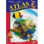 Atlas geografic scolar ( editura : Joy , autor : Catalin Gogota , Adina Gogota , ISBN 978-606-8593-18-0 )