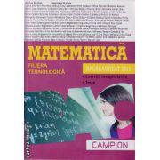 Campion - Matematica Bacalaureat 2015 - filiera tehnologica - tara, coperta mov ( editura: Campion, autor: Marius Burtea, ISBN 978-606-8323-75-6 )