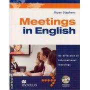 Meetings in English ( editura: Macmillan, autor: Bryan Stephens, ISBN 978-0-2304-0192-1 )