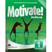 Motivate 1 Workbook + 2 audio CDs ( editura: Macmillan, autor: Emma Heyderman, Fiona Mauchline, ISBN 978-0-230-45134-6 )
