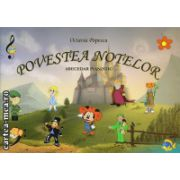 Povestea notelor - abecedar pianistic ( editura: Grafoart, autor: Octavia Popescu, ISBN 9786068486284 )