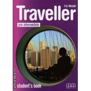 Traveller pre-intermediate - student's book ( editura : MM Publications , autor : H.Q. Mitchell , ISBN 978-960-443-581-4 )