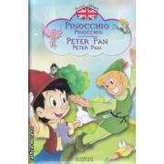 Povesti bilingve in romana si engleza  Pinocchio , Peter Pan ( Editura : Flamingo Junior ISBN 978-973-7948-75-5 )