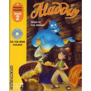 Primary Readers - Aladdin - Level 2 reader with CD ( editura : MM Publications , retold by : H.Q. Mitchell , ISBN 978-960-443-006-2 )