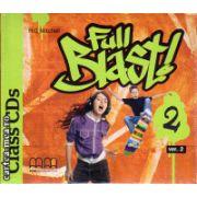 Full Blast 2 Class CDs ( editura : MM Publications , autor : H.Q. Mitchell , ISBN 978-960-478-671-8 )