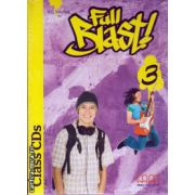 Full Blast 3 Class CDs ( editura : MM Publications , autor : H.Q. Mitchell , ISBN 978-960-443-900-3 )