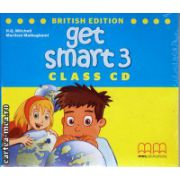 Get Smart 3 Class CDs ( editura : MM Publications , autor : H.Q. Mitchell , ISBN 978-960-478-867-5 )