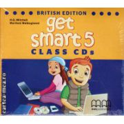 Get Smart 5 Class CDs ( editura : MM Publications , autor : H.Q. Mitchell , ISBN 978-960-478-869-9 )
