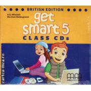 Get Smart 5 Class CDs ( editura : MM Publications , autor : H.Q. Mitchell , ISBN 978-960-478-869-9 )