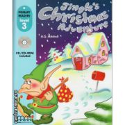 Primary Readers - Jingle's Christmas Adventure - Level 3 reader with CD ( editura : MM Publications , autor : H.Q. Mitchell , ISBN 978-960-443-036-9 )