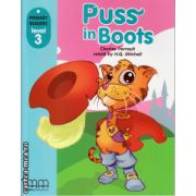 Primary Readers - Puss in Boots - Level 3 reader ( editura: MM Publications, autor: Charles Perrault, ISBN 978-960-443-283-7 )