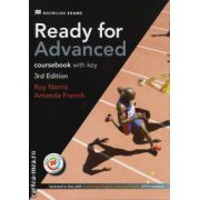 Ready for Advanced coursebook with key and MPO - 3rd edition ( editura: Macmillan, autor: Roy Norris, ISBN 978-1-786-32757-4)