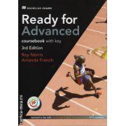 Ready for Advanced coursebook with eBook and key - 3rd edition ( editura: Macmillan, autori: Roy Norris, Amanda French ISBN 9781786327574)