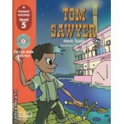Primary Readers - Tom Sawyer - Level 5 reader with CD ( editura : MM Publications , autor : Mark Twain , ISBN 978-960-379-833-0 )