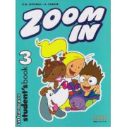 Zoom In 3 - Student ' s Book ( editura : MM Publications , autor : H.Q. Mitchell , S. Parker , ISBN 978-960-379-278-9 )