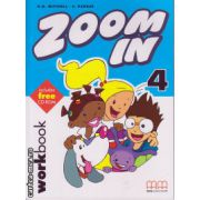 Zoom In 4 - Workbook with CD ( editura : MM Publications , autor : H.Q. Mitchell , S. Parker , ISBN 978-960-379-289-5 )