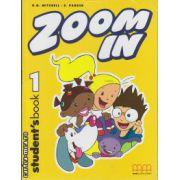 Zoom In 1 - Student ' s Book ( editura : MM Publications , autor : H.Q. Mitchell , S. Parker , ISBN 978-960-379-258-1 )