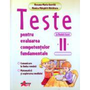 Teste pentru evaluarea competentelor fundamentale la finalul clasei a II a ( Editura: Akademos Art, Autor: Roxana - Maria Gavrila, Monica Margarit -Baraitaru ISBN 978-606-8336-61-9)