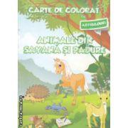 Carte de colorat cu abtibilduri Animale din savana si padure ( Editura : Ars Libri ISBN 978-606-574-402-8 )