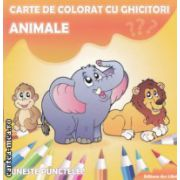 Animale carte de colorat cu ghicitori ( Editura : Ars Libri , Autor : Adina Grigore ISBN 978-606-574-231-4 )