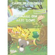 Carte de colorat cu abtibilduri Animale din alte zone ( Editura : Ars Libri , Autor : Adina Grigore ISBN 978-606-574-401-1 )