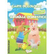Carte de coloratcu abtibilduri Animale domestice ( Editura : Ars Libri , Autor : Adina Grigore ISBN 978-606-574-144-7 )