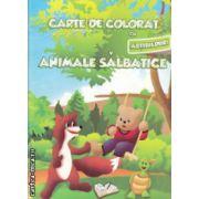 Carte de colorat cu abtibilduri Animale salbatice ( Editura : Ars Libri , Autor : Adina Grigore ISBN 978-606-574-145-4 )
