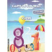 Carte de  colorat cu abtibilduri Cifre ( Editura : Ars Libri , Autor : Adina Grigore ISBN 978-606-574-152-2 )