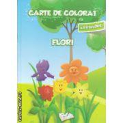 Carte de colorat cu abtibilduri Flori ( Editura : Ars Libri   Autor : Adina Grigore ISBN 978-606-574-154-6 )