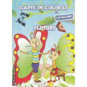Carte de colorat cu abtibilduri Fluturi ( Editura: Ars Libri ISBN 978-606-574-397-7 )