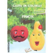 Carte de colorat cu abtibilduri Fructe ( Editura : Ars Libri , Autor : Adina Grigore ISBN 978-606-574-147-8 )