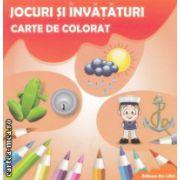 Jocuri si invataturi carte de colorat ( Editura : Ars Libri , Autor : Adina Grigore ISBN 978-606-574-239-0 )