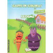 Carte de colorat cu abtibilduri Legume ( Editura : Ars Libri , Autor : Adina Grigore ISBN 978-606-574-146-1 )