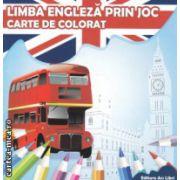 Carte de colorat Limba engleza prin joc ( Editura : Ars Libri , Autor : Adina Grigore ISBN 978-606-574-219-2 )