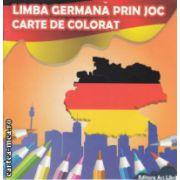 Carte de colorat limba germana prin joc ( Editura : Ars Libri , Autor : Adina Grigore ISBN 978-606-574-380-9 )