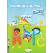 Carte de colorat cu abtibilduri Litere ( Editura : Ars Libri , Autor : Adina Grigore ISBN 978-606-574-153-9 )