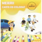 Meserii Carte de colorat cu abtibilduri ( Editura : Ars Libri ISBN 978-606-574-225-3 )