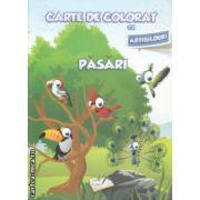 Carte de colorat cu abtibilduri Pasari ( Editura : Ars Libri ISBN 978-606-574-399-1 )