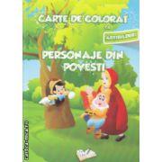 Carte de colorat cu abtibilduri Personaje din povesti ( Editura : Ars Libri ISBN 978-606-574-155-3 )