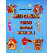 Limba germana pentru scolari Nivelul I ( Editura: Carta Atlas, Autor: Alexandrina Ciobanu ISBN 978-606-93661-8-9 )