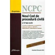 Noul Cod de procedura civila si 12 legi uzuale 30 Ianuarie 2015 ( Editura: Hamangiu ISBN 978-606-27-0170-3 )