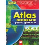 Atlas geografic pentru gimnaziu ( Editura : Niculescu , Autor : Ionut Popa ISBN 978-973-748-832-9 )