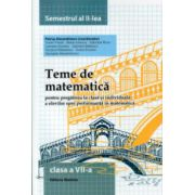 Teme de matematica pentru clasa a VII -a semestrul al II - lea ( Editura: Nomina, Autor: Petrus Alexandrescu ISBN 9786065356948 )