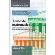 Teme de matematica pentru clasa a VI-a semestrul al II lea ( Editura: Nomina, Autor: Petrus Alexandrescu ISBN 978-606-535-693-1 )